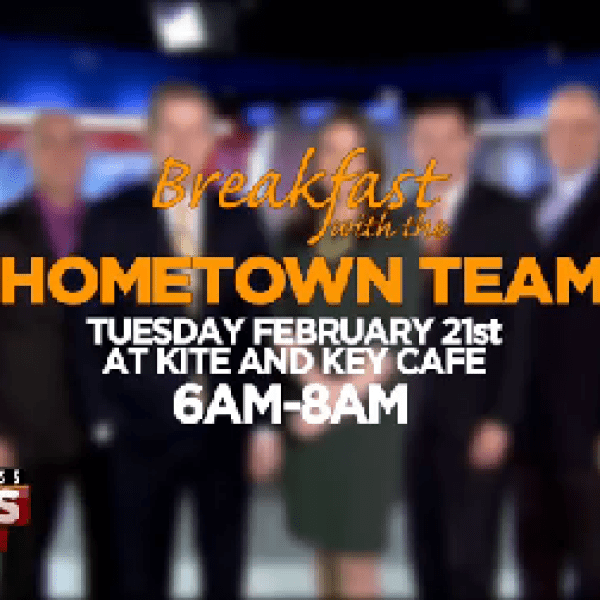 Breakfast with the Hometown Team: Kite & Key Cafe on Feb. 21
