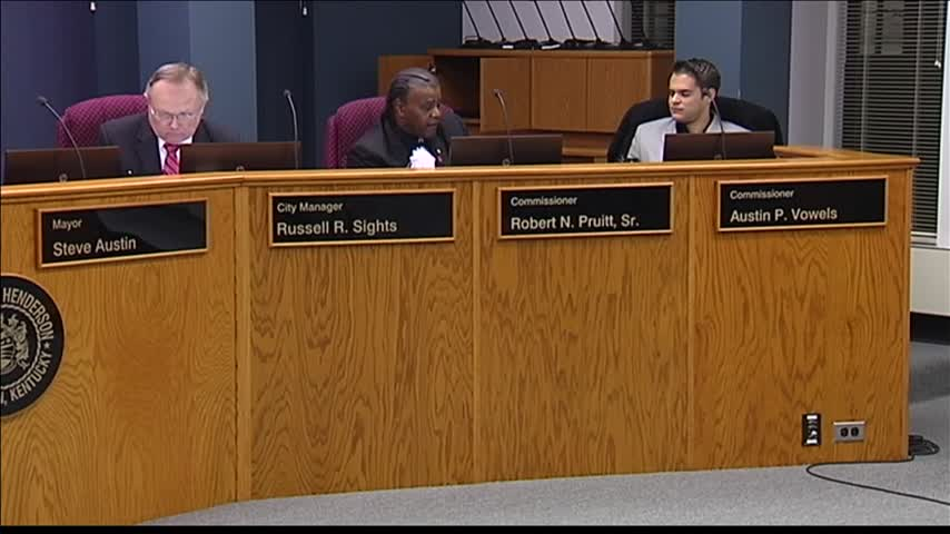 Henderson Board of Comm. Vote on Utility Rate Increase