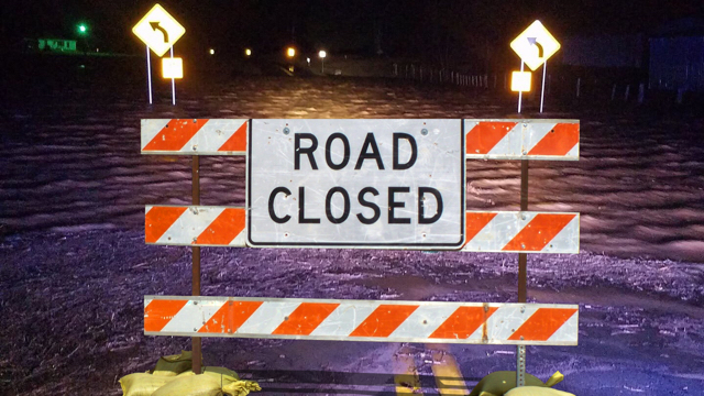 flooding roads closed