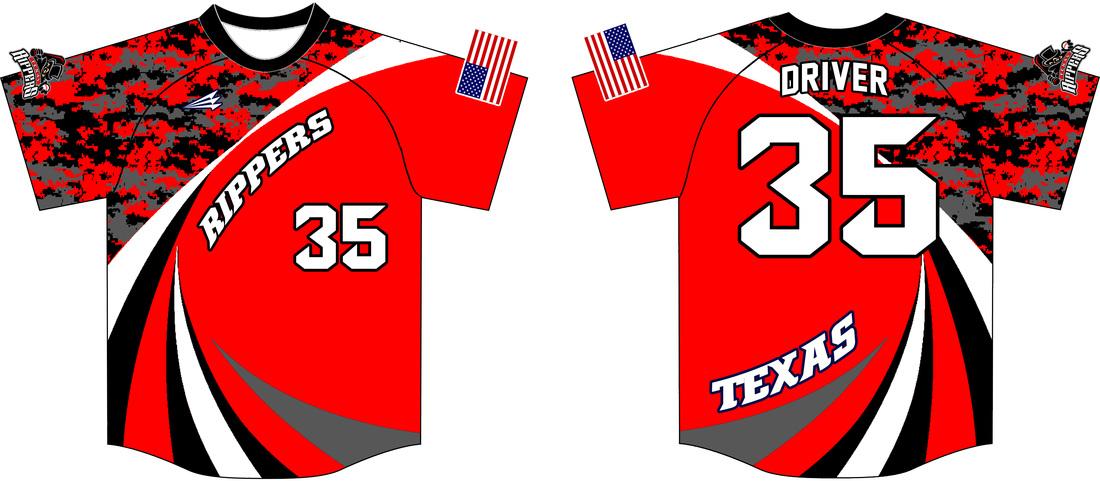 Download Texas Rippers Custom Softball Jerseys - Triton Mockup Portal