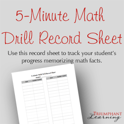Use this record sheet to record and track your student's progress memorizing the math facts.