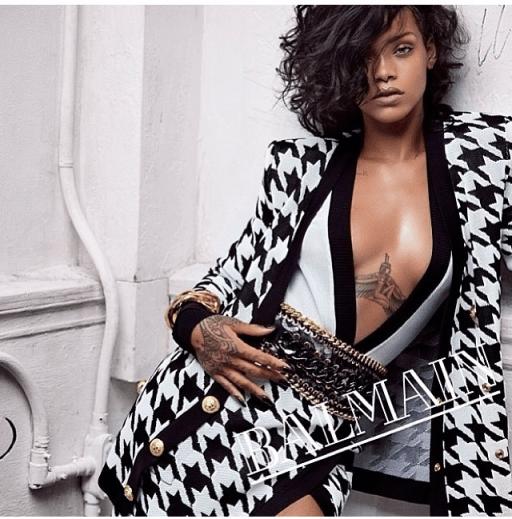 Rihanna Balmain fashion ss2014