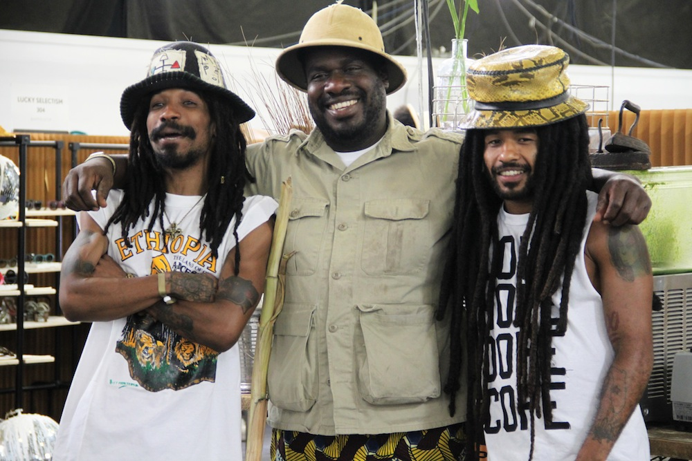 rastafarians at liberty fairs tradeshow