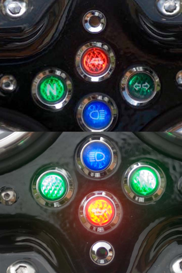LED For Turn Signal Warning Lt With Kisan SM1 Triumph