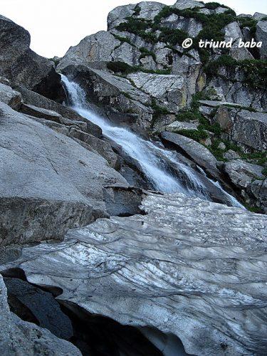 Glacier Waterfall ahead Laka