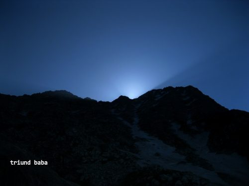 Sun Rise over Mun Peak and Indrahar Pass