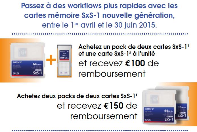 150 € de remboursement sur les cartes SxS-1