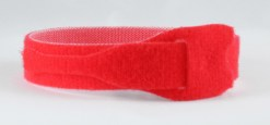 VELCRO STRAPS 25 MM X 300 MM ROUGE LE LOT DE 20