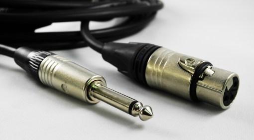 CORDON AUDIO SYMETRIQUE XLR 3BR F / JACK 6.35 M - 20m