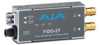 CONVERTISSEUR 2 SD/HD/3G-SDI VERS 2C FIBRE AJA FIDO-2T