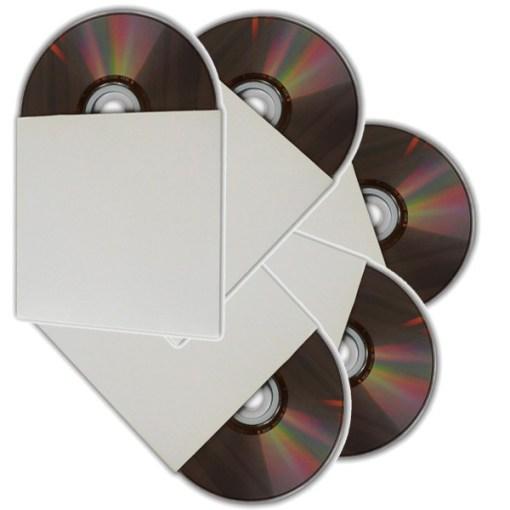 POCHETTE CD/DVD CARTON BLANCHE EN PACK DE 50 PIECES