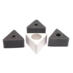 Badge de micros triangulaire blanc
