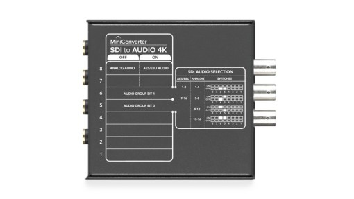 Blackmagic Design Mini Converter Audio to SDI 4K - Convertisseur