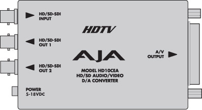 CONVERTISSEUR AJA HD10CEA