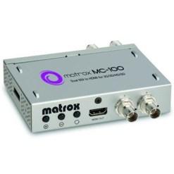 MINI CONVERTISSEUR MATROX MC100 DUAL SDI VERS HDMI