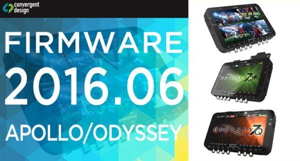 Nouveau Firmware Convergent Design pour Apollo/Odyssey