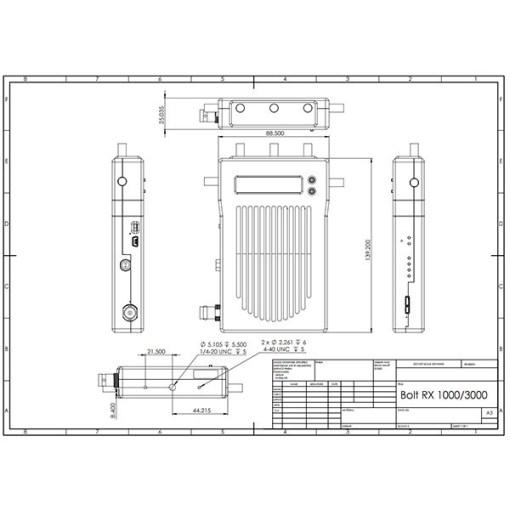RECEPTEUR HF TERADEK BOLT 1000 3G-SDI/HDMI