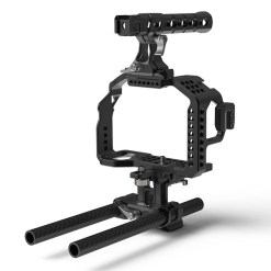 CAGE 8SINN SONY A7SII/A7RII + POIGNEE SUPERIEURE PRO + 15MM UNIVERSAL ROD & METABONES SUPPORT