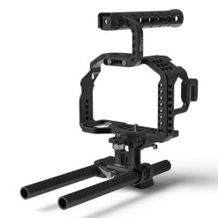 CAGE 8SINN SONY A7SII/A7RII + POIGNEE SUPERIEURE BASIC + 15MM UNIVERSAL ROD & METABONES SUPPORT
