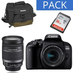 KIT CANON EOS 800D+18-200 IS+SAC CANON+CARTE