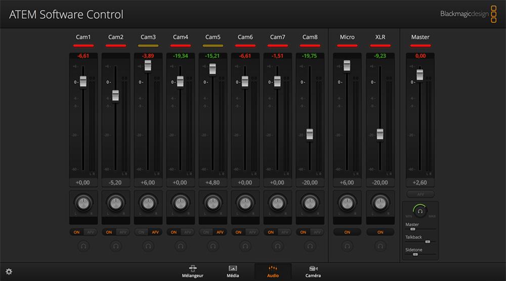 mixage audio professionnel mélangeur item télévision studio pro hd