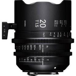 Sigma 20mm T1.5 FF (PL) - Objectif Prime Cinéma