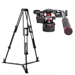 KIT ROTULE MANFROTTO NITROTECH N8 ET TREPIED 546GB TWIN GS