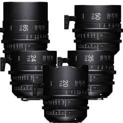 KIT OBJECTIFS SIGMA 20-24-35-50-85 + PMC-002 Sony E