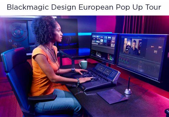 Blackmagic design European pop Up Tour