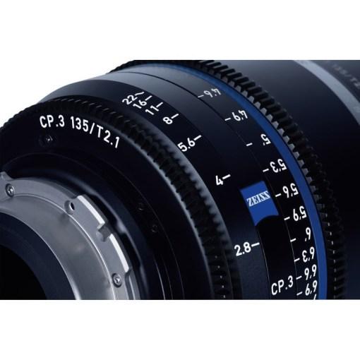 ZEISS CP.3 135mm T2.1 Monture E Métrique - Objectif Prime