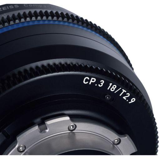 ZEISS CP.3 15mm T2.9 Monture F Impérial - Objectif Prime