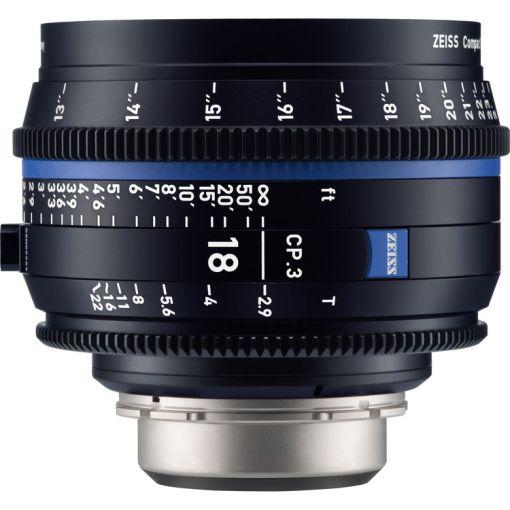 ZEISS CP.3 18mm T2.9 (Nikon F, imperial) - Objectif Prime Cinéma
