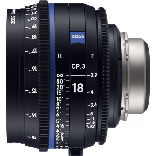 ZEISS CP.3 18mm T2.9 (Sony E,) imperial) - Objectif Prime Cinéma