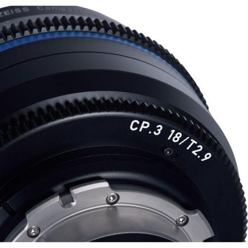 ZEISS CP.3 18mm T2.9 Monture PL Impérial - Objectif Prime