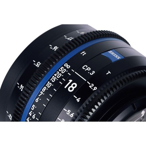 ZEISS CP.3 18mm T2.9 Monture EF Impérial - Objectif Prime