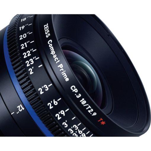 ZEISS CP.3 18mm T2.9 Monture E Impérial - Objectif Prime