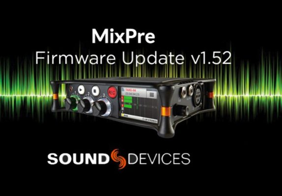 Firmware Update v1.52 MixPre Series Sound Devices