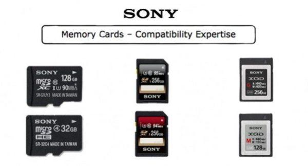Tableau de compatibilité cartes SONY SD/XQD