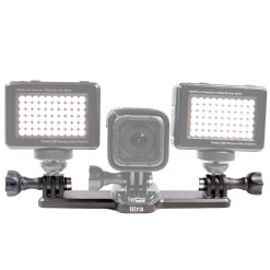 SUPPORT TRIPLE POUR 2 TORCHES LED LITRA ET GOPRO