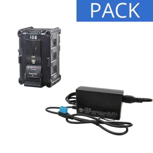 IDX Batterie IPL-150 & Chargeur VL-DT1 - Kit Batterie et Chargeur
