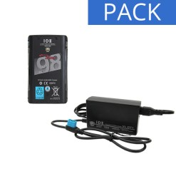 IDX Batterie DUO-C98 & Chargeur VL-DT1 - Kit Batterie et Chargeur