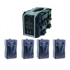 IDX EP-9/4Se Kit 4 Batteries E-HL9 & Chargeur VL-4Se - Kit Batteries et Chargeur