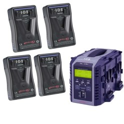IDX EP-9/4Si Kit 4 Batteries E-HL9 & Chargeur VL-4SI - Kit Batteries et Chargeur