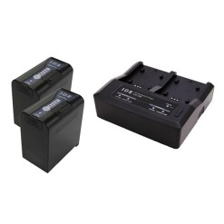 IDX PP-2A - Kit de 2 Batteries SL-VBD96 avec Chargeur LC-2A