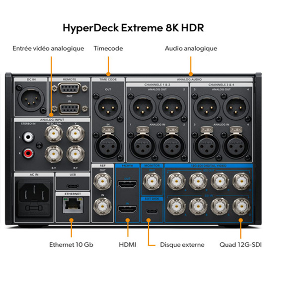 Blackmagic Design HyperDeck Extreme 8K HDR - Enregistreur Vidéo