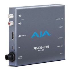 AJA IPR-10G-HDMI - Décodeur SMPTE ST 2110 Video et Audio IP vers HDMI