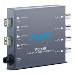 AJA FiDO-4R-MM - Convertisseur 4 canaux Multi-Mode LC Fiber vers 3G-SDI