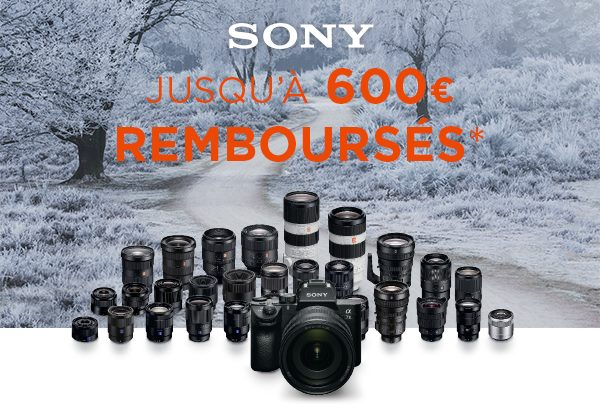 Cashback Sony Photo Hiver 2019