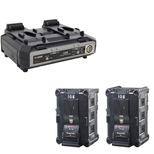 IDX 2 Batteries IPL-150 & Chargeur VL-2000S – Kit Batteries et Chargeur