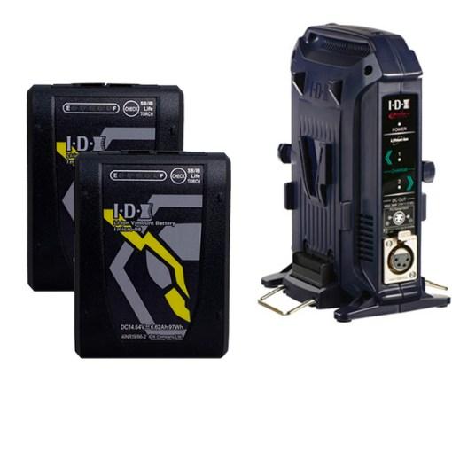 IDX Imicro-98 (x2) avec Chargeur VL-2X - Batteries avec Chargeur